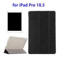 Silk Texture Flip Leather Case for iPad Pro 10.5 with 3 folding Holders