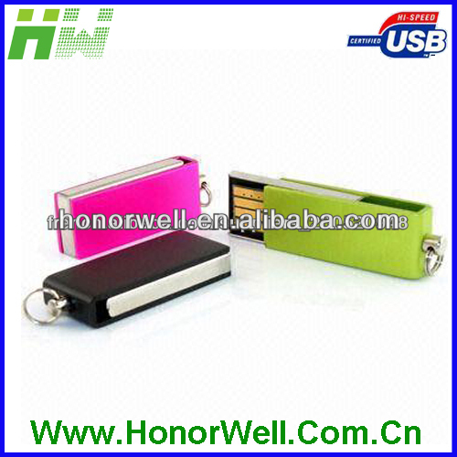 swivel usb flash memory 8GB stomized logo for gift or use