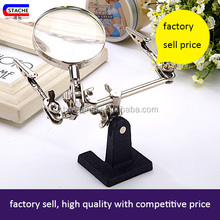 china newest high quality helping hand tweezer magnifier with led light