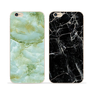 Full coverage soft TPU marble printing phone case for iphone 6