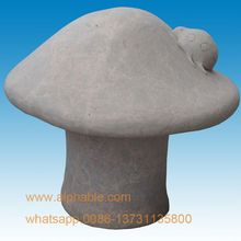 Hot Sale Garden Decoration Natural White Marble Stone Mushroom Sculpture