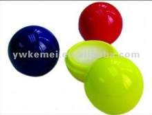 Hot wholesale ball shape lip balm with SPF15