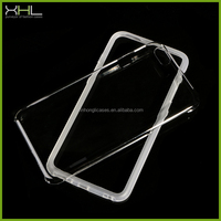 Free samples tpu bumper and clear pc back case for iphone 6