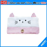 cartoon kitty pink Lovely cat pencil case for girls