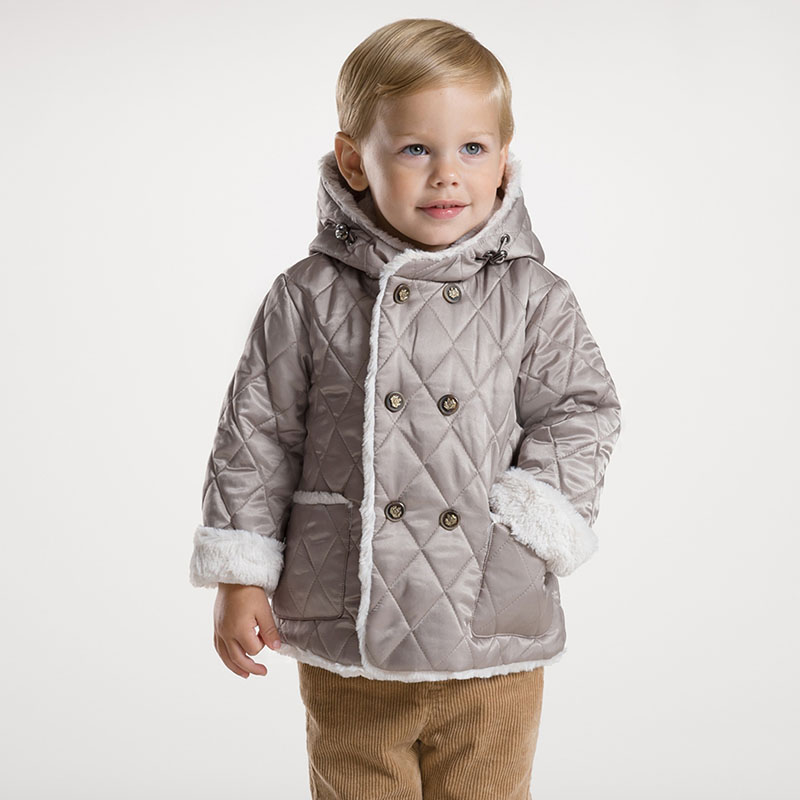 DB2696 dave bella 2015 autumn winter infant coat baby boy down jacket padded jacket outwear boys down coat down jacket