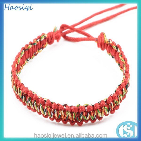 2014 Fashion Trendy Braided Rubber Bands Rainbow Colors Elastic Bands Bracelet
