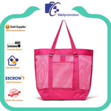 Women beach tote bags mesh nylon wholesale