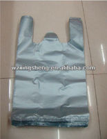 silver grey high quality LDPE packaging plastic tote bag,cheap garbage bag