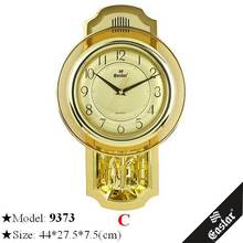 Elegant gold clock ancient antique good pendulum wall clock