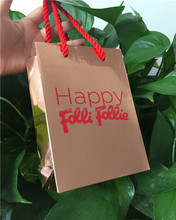2017 big brand hot sale luxury shopping paper bag glossy paper
