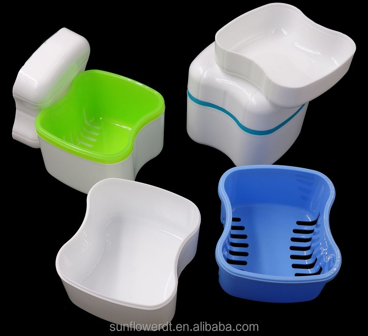 Dental Orthodontic Retainer Case / Plastic Denture Box