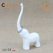 Auspicious Ceramic Elephant Ring Dish for jewelry holder