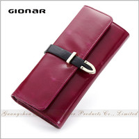 High Quality Hong Kong Making Suppliers Women Genuine Cow Leather Wallet Clip