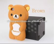 Rilakkuma Bear Silicone Phone Case Cover for iPhone 4S 4G