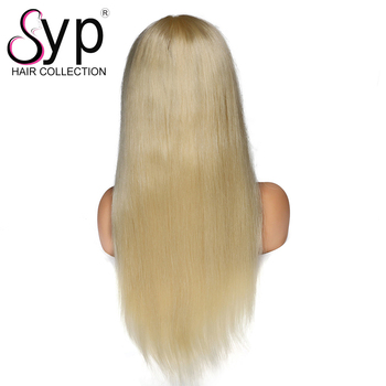 Unprocessed European 613 Straight Virgin Russian Hair Lace Front Wig And Full Lace Wig