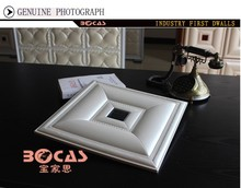 BOCAS interior decoration3D leather carved wall panel with new design