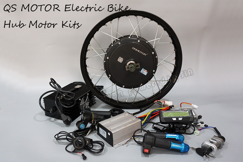QS Motor 205 3000W 5000 Watt 14kW Peak Electric Bicycle Bike Brushless DC Hub Motor Conversion Kit