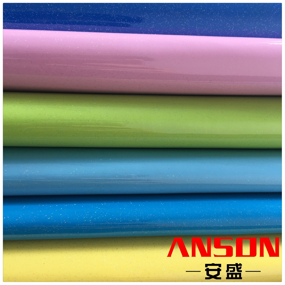 Colorful Mirror Effect Metallic Laser foiled pu synthetic leather for fashion bags