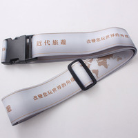 High quality full printed luggage belt / baggage strap with adjustable buckle