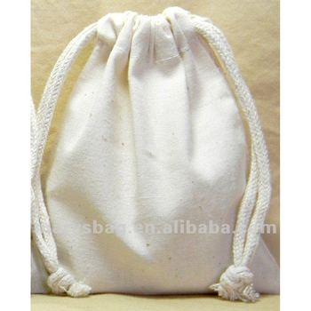 Natural Unbleached Cotton Muslin Pouch Bags