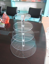 5Tier 5mm Thick Clear Acrylic Wedding Party Fairy Cupcake Display Stand; Acrylic Cupcake Stand