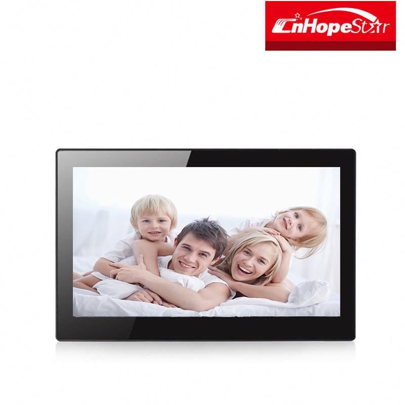 Fashion 13 inch LED Display Digital Photo Frame with Holder & Remote Control, Support SD / Mini HD MI and USB