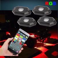 4 pcs kits RGB Rock light under body kits atmosphere light universal for all trucks