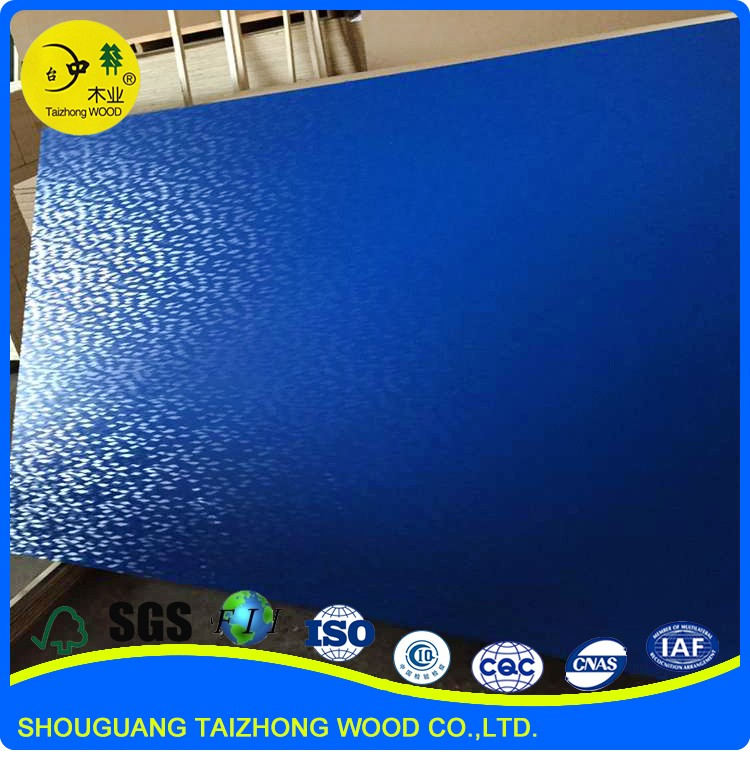 Good Furniture Material Embossed melamine paper coated MDF