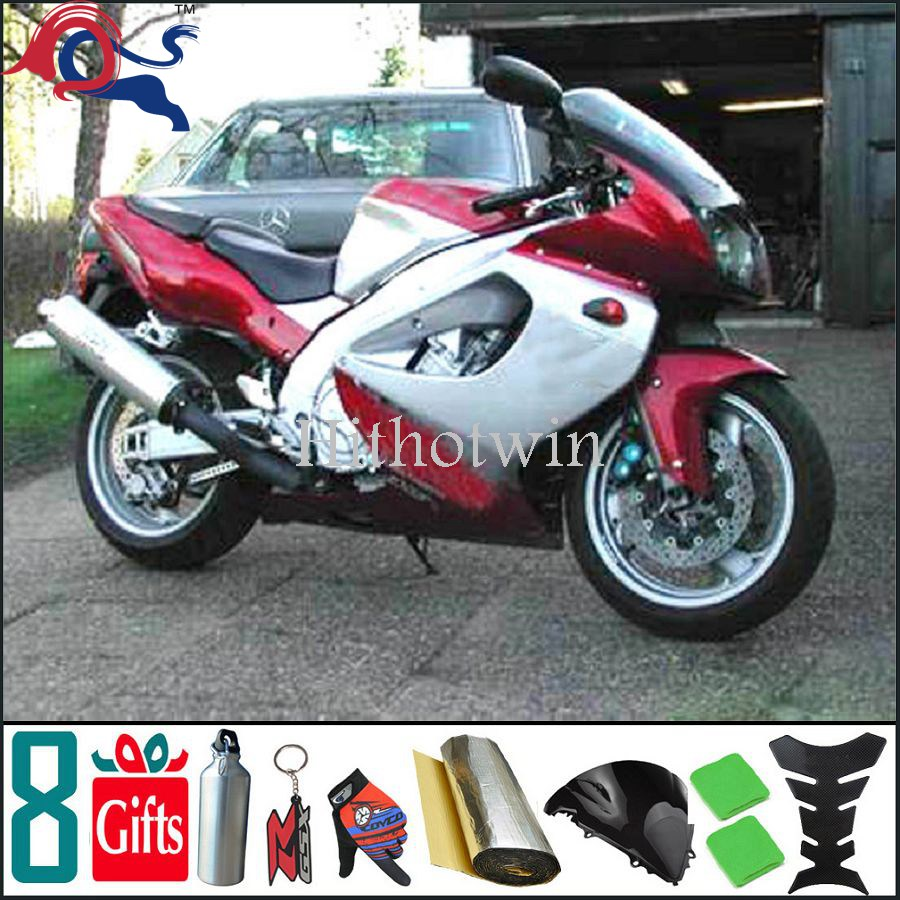 white red For yamaha YZF1000 1996 1997 1998 1999 2000 2001 2002 2003 2004 2005 2006 2007 Fairing Bodywork Plastic Kit Set 9