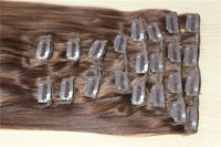 2016 New Factory outlet 100% Malaysian human hair full head full cuticle clip in hair extension