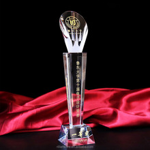 Custom Engraved Crystal Trophy souvenir promotional Trophy & Award