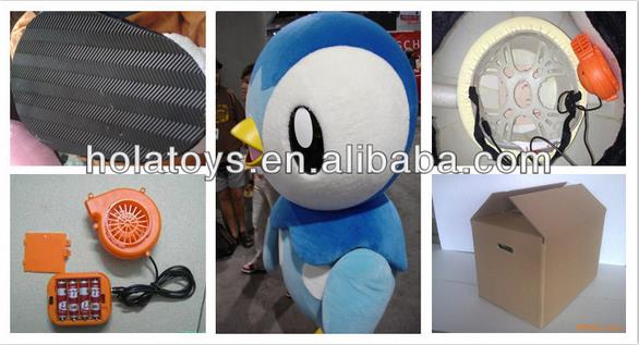 Hola new mascot costumes/high quality custom mascot costume factory