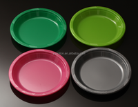 Wholesale Dinner Plate Disposable Plastic Plates Food Grade Multicolor Plates Dish Tray