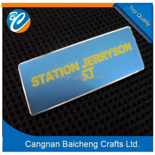 business/company staffs cheap aluminum alloy name badges for the work uniforms as elegant decoration for the desks of big charm
