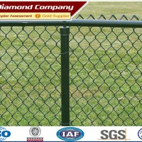 used chain link fence post /galvanized chain link fence (factory)/temporary chain link fence