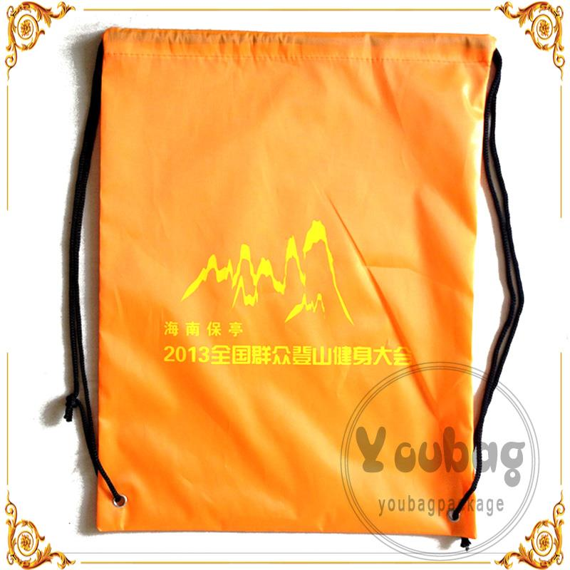 Wholesale Packaging Gift polyester drawstring sport bag manufacturers