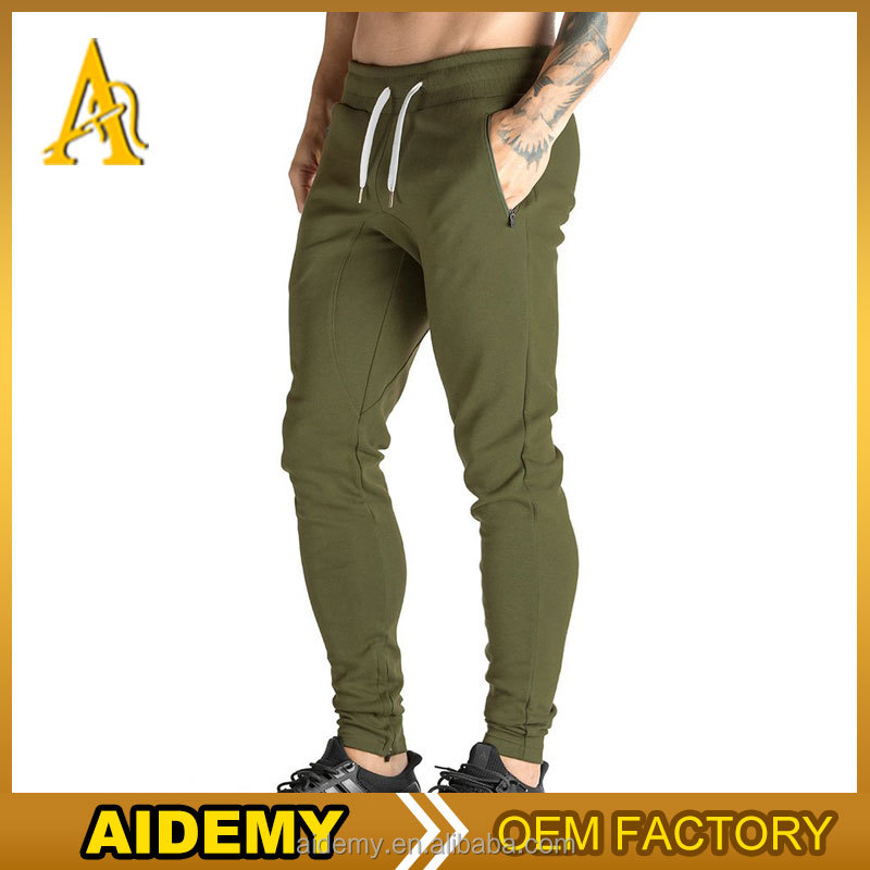 wholesale men jogger sweatpants plain gym pants with round drop crotch
