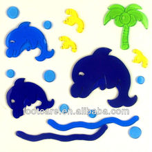 Marine Organism dolphin window Gel sticker