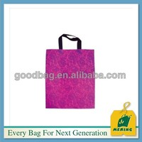 China manufacturer wholesale plastic bag tote handle shopping bag