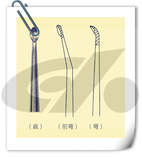 silica gel handle bone curette medical bone curette