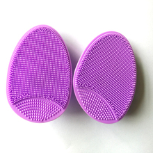 Customized silicone makeup sponge molded silicone washing face cosmetic scrubber brush tool