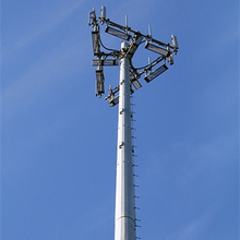 10 - 60meters Telecommunication Steel Mono pole Tower