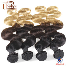 China hair manufacturer grade 7a highlight color 4/27 weave hair