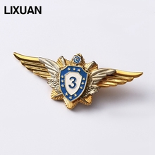 Collectible casting metal high quality wings shape badge