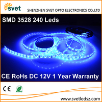 CE RoHs Fabric Round Slim Led Strip SMD 3528 Blue 240 Leds 1 Year Warranty