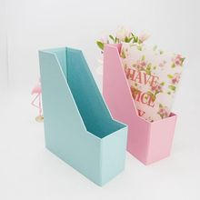 Custom A4 file desktop folder cardboard paper folding magazine file holder