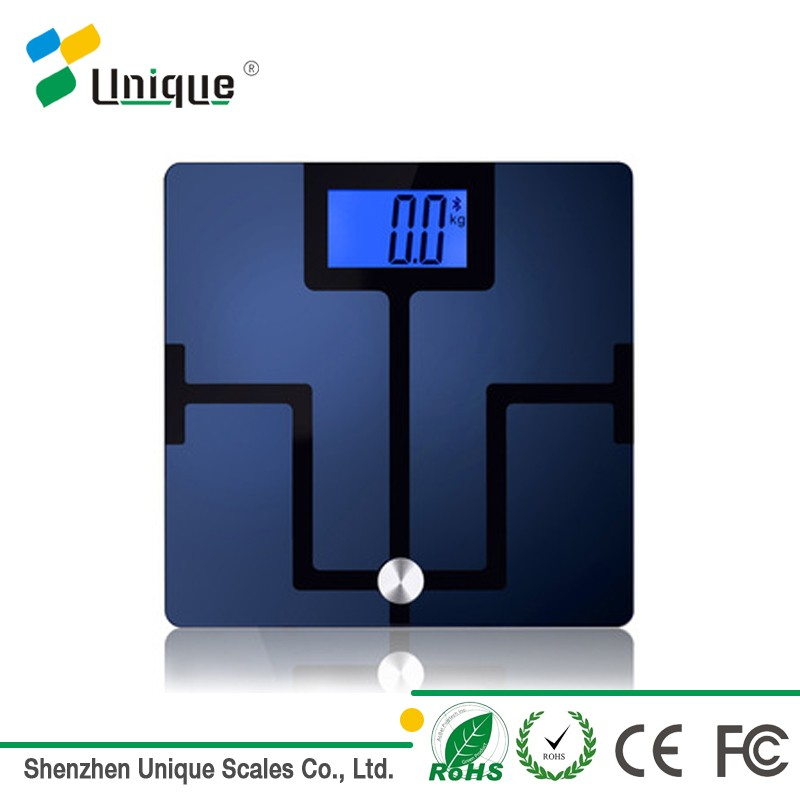 Large glass platform non-slip feet bmi body composition analyser digital weighing scale 180kg