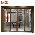 four panels aluminum sliding door exterior terrace door