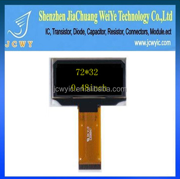 0.48 inch resolution small 72x32 OLED display
