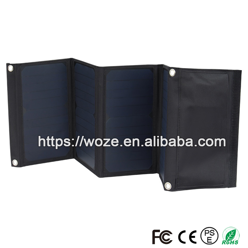 28W sunpower folding solar panel the lowest prices camping solar panel